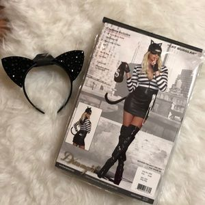 Dreamgirl Sexy Cat Burglar Costume and Headband